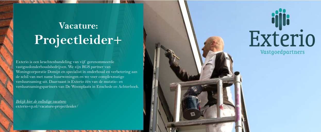 Vacature: Projectleider+